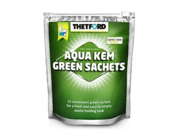 Thetford 12 Aqua Kem Green Sachets in a Resealable Bag