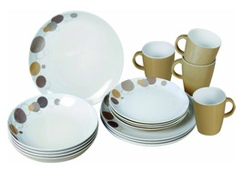 Brunner Pepita 16 Piece Melamine Set