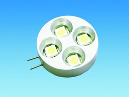 G4 Flat Horizontal 12v 4 LED Warm White Bulb