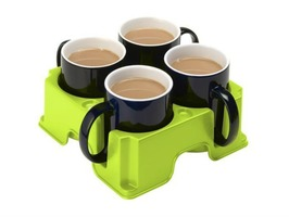 Muggi Mug Holder for 4 Drinks or Cups
