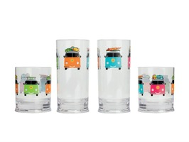 Flamefield Camper Smiles Acrylic Short Tumbler Pack 2