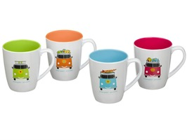 Flamefield Camper Smiles 4 Pack Mug Set