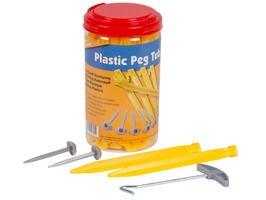 Kampa Plastic Peg Tub Set