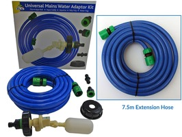 PLS Universal Mains Water Adaptor & PLS 7.5m Extension Hose Package