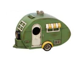Flamefield 1930's Vintage Caravan Polyresin Bird House