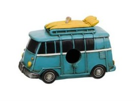 Flamefield Vintage Campervan Polyresin Bird House
