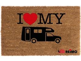 Reimo I Love My Motorhome Coconut Doormat