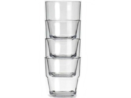 Flamefield Acrylic Stackable Small Tumblers Pack 4