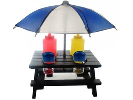 Umbrella Picnic Table Condiment Set