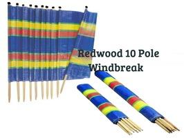 Redwood 10 Pole Tall Windbreak