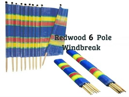 Redwood 6 Pole Tall Windbreak