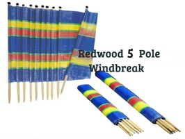 Redwood 5 Pole Windbreak