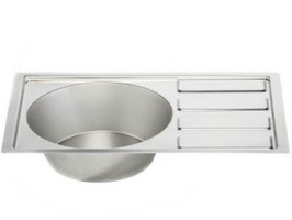 "Stainless Steel Sink & Drainer 21.75"" x 14"""