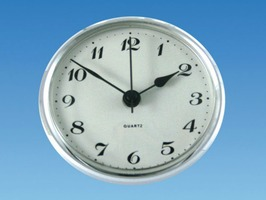 Quartz  Caravan/Motorhome  Clock - Chrome Bezel
