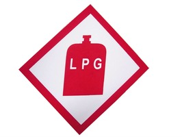 LPG Gas Warning Sticker