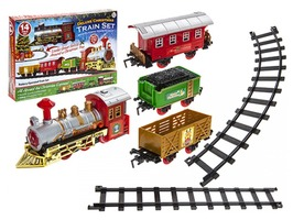 14 Piece Christmas Train Set with Sound & Light Action