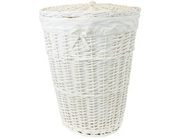 JVL 94 Litre Willow Laundry Basket with Lid