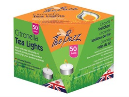 The Buzz Citronella Tea Lights Pack 50