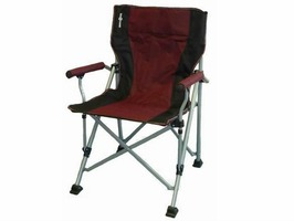 Raptor Folding Chair-Burgundy/Black