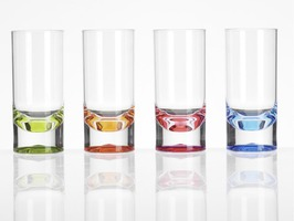 Flamefield Acrylic Slim Jim Short Tumbler 4 Pack