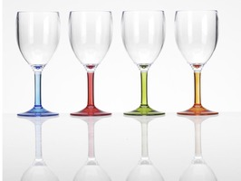 Flamefield Acrylic Stemmed Wine Goblet - 4 Pack Party Range