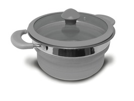 Kampa Folding Saucepan 1.5 L Grey