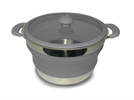 Kampa Folding Saucepan 3 Litre Grey