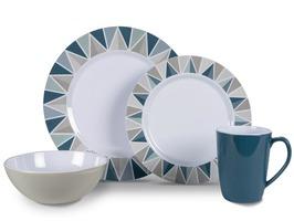 Kampa Apex Heritage 16 Pce Melamine Dinner Set