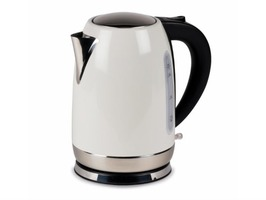 Kampa Storm Stainless Steel High Gloss Cream Electric Kettle 1.7 Litre