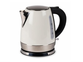Kampa Cascade Stainless Steel High Gloss Cream Electric Kettle 1 Litre