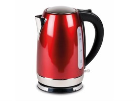 Kampa Storm Stainless Steel High Gloss Red Electric Kettle 1.7 Litre