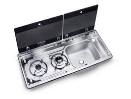 Dometic Smev MO 9722 2 Burner Gas Hob & Sink -  right hand sink
