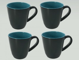 Flamefield Granite Aqua Melamine Mug Set 4 Pack