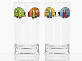 Flamefield Love Caravanning Acrylic Tall Tumbler Pack 2