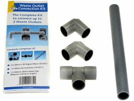 Caravan Waste Outlet Double Connection Kit 28mm