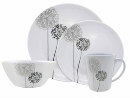 Flamefield Monochrome 16 Piece Melamine Set