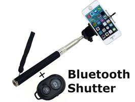 Streetwize Telescopic Selfie Stick with Bluetooth Remote Control