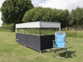 Kampa Pro Windbreak 3 Panel - Aluminium Frame