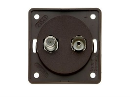 Berker Coaxial and Satellite Socket - Anthracite