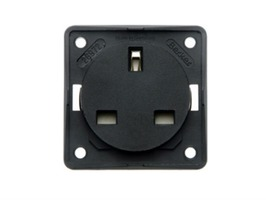 Berker Interior 230V Electrical Socket - Anthracite