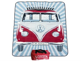 VW Volkswagen Picnic Blanket - Red
