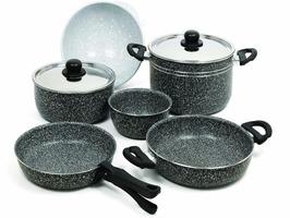 Beaver Stone Rock 24 Aluminium Cookware Set