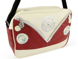 VW Campervan Bus Landscape Style Shoulder Bag Red