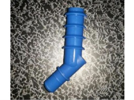 Comet Tap Angled Hose Tail Ridged - Blue