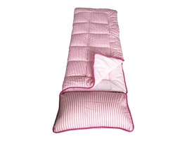 Sunncamp Junior Sleeping Bag with Pillow - Pink Stripe