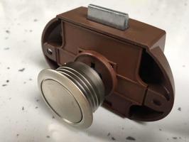 Large Push Button Lock Satin