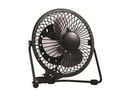"Kingavon 4"" Silent Portable Metal USB Powered Fan - Black"