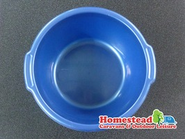 Deep Round Washing Up Bowl Blue 32cm