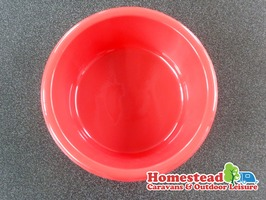 Camping Washing Up Bowl 27cm - Red / Blue / Oatmeal