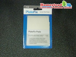 Number Plate Self-Adhesive Fixing Pads 1mm  - 3 Strips